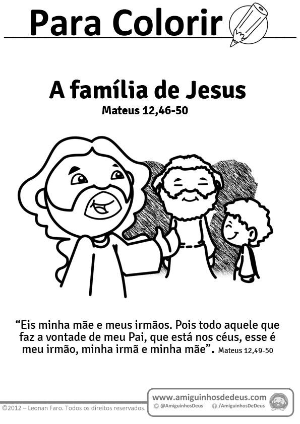 A família de Jesus - Mateus 12,46-50 para colorir