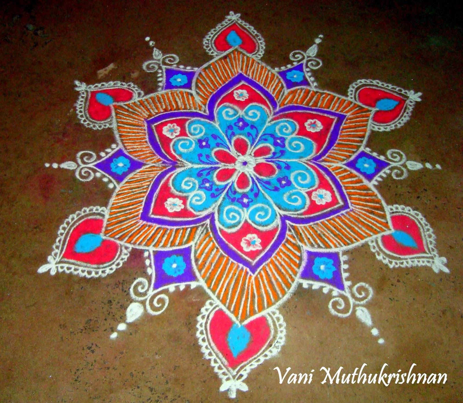 My Kolam: 1/1/15 - 2/1/15 for Karthigai Deepam Kolam  56mzq