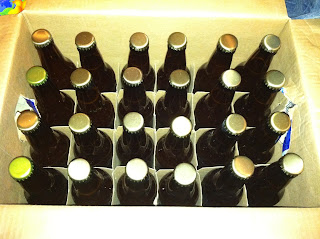 Bottles of home brewed beer