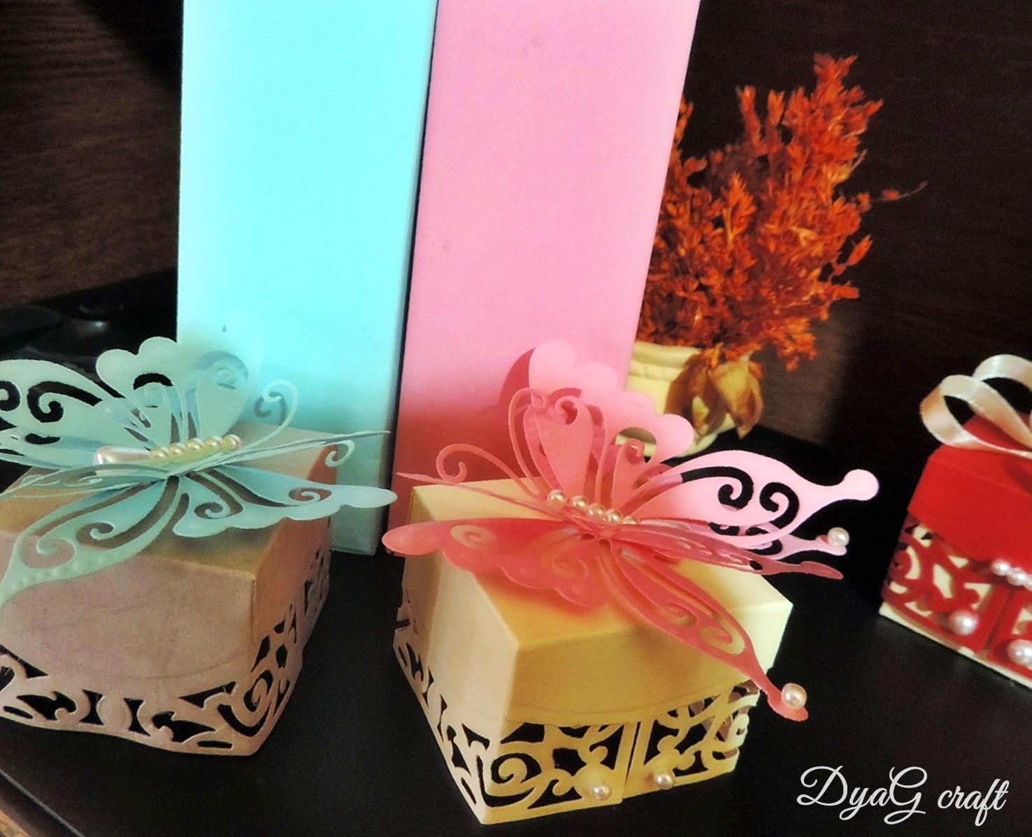 cutie marturie detalii fluture