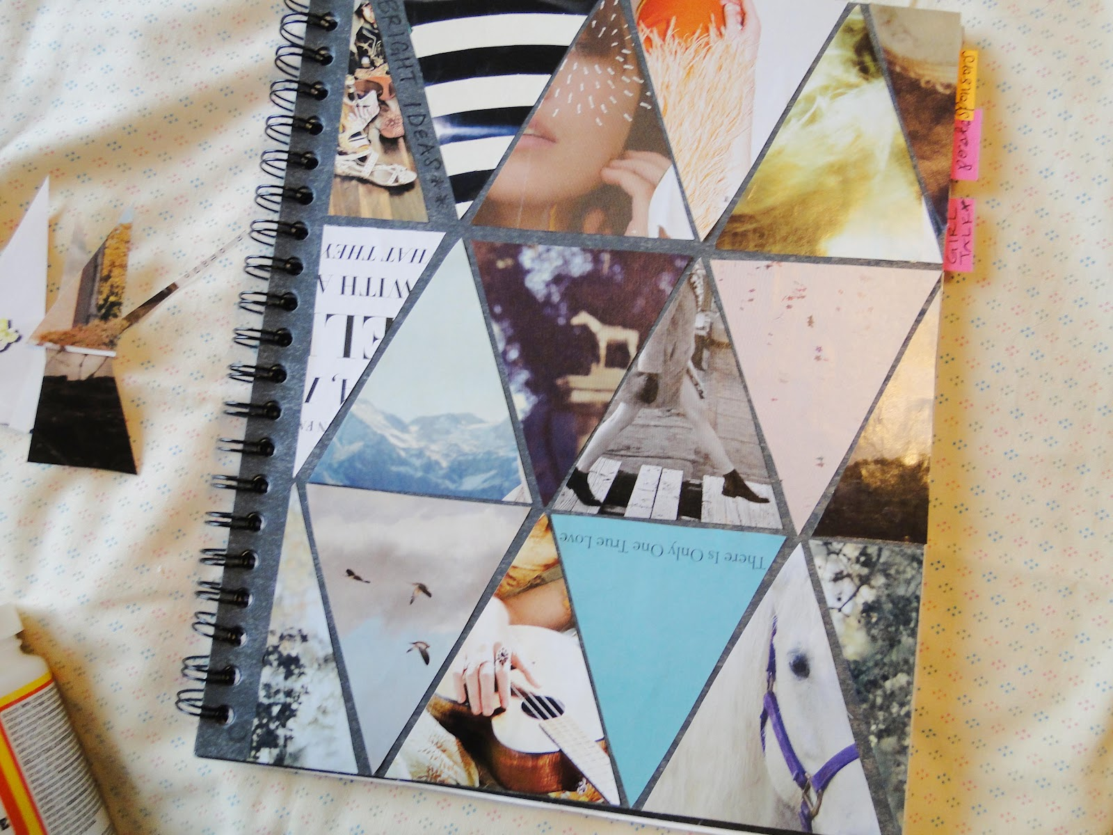 Make Collage Book Cover : Pie n the sky triangle love diy