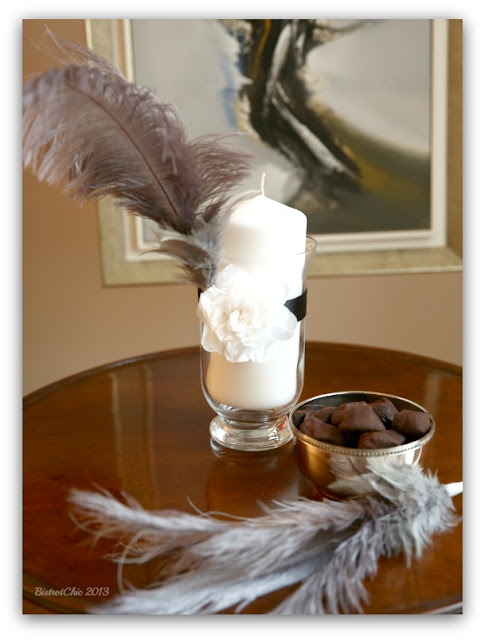 Feather decoration for a 60th annyversary party from BistrotChic
