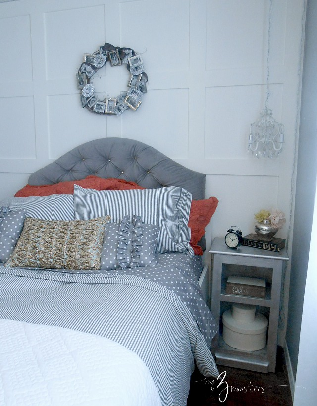 Tufted Headboard Tutorial at my3monsters.com