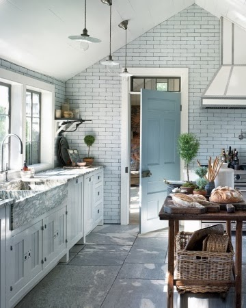 An urban cottage white vs gray grout for Country cottage floor tiles