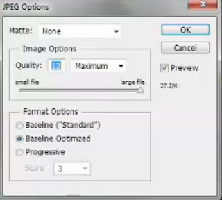 photoshop CS6 : JPG save option