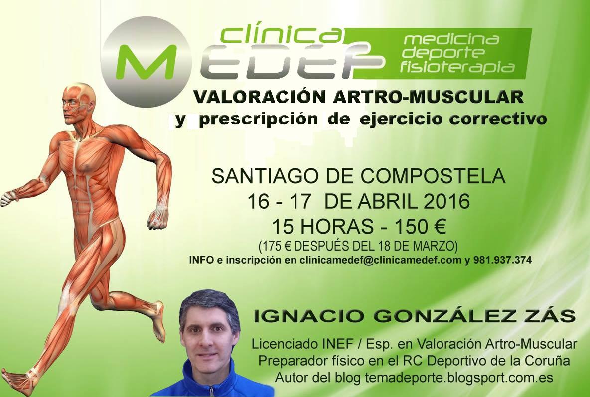 Valoración artro-muscular en Santiago, 16-17 de abril