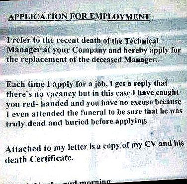 Famous jokes application for employment funny letter application for employment funny letter spiritdancerdesigns Choice Image