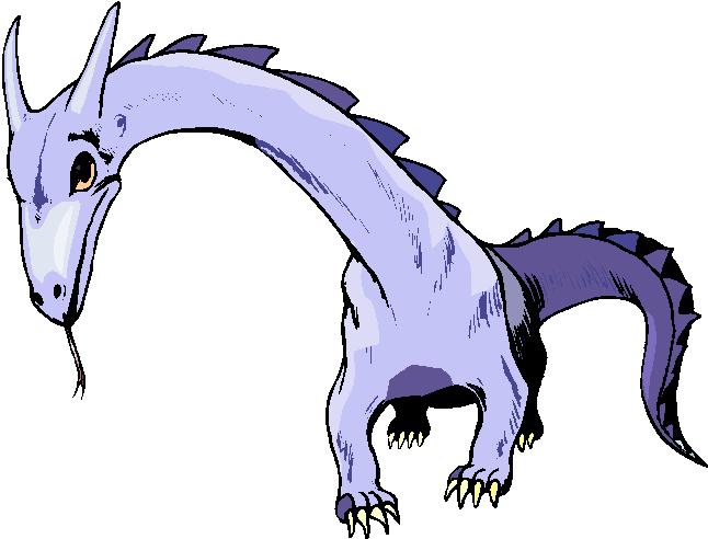 Fantasy Blue Dinosaurs Free Clipart