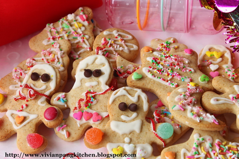 Vivian Pang Kitchen: Gingerbread Cookies with Egg-free Royal Icing