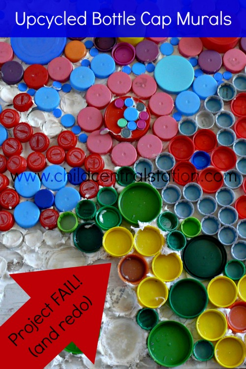 Bottle cap crafts mural for Crafts to do with bottle caps