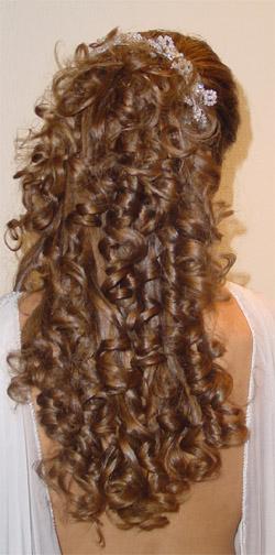 Ideas para peinados de fiestas con rulos trenzas con - Ideas para peinar cabello largo ...