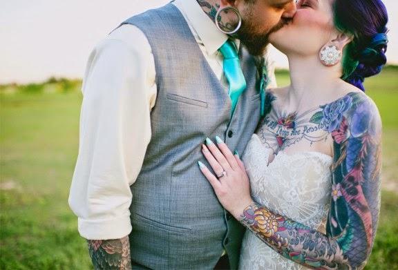 Matrimonio Tema Tatuaggi : Momenti felici matrimonio a tema tattoo