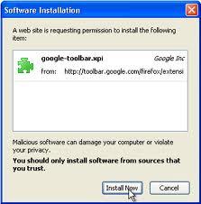 gambar cara install google pagerank di Firefox