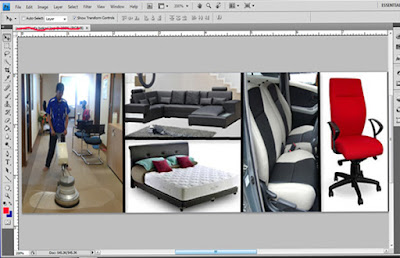 membuat background dengan photoshop