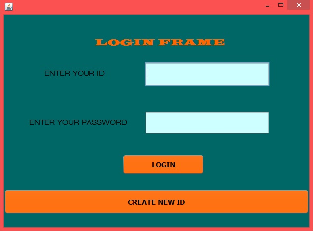 How To Create A Login Frame With Create New Id Option In Java ...