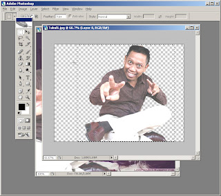 cara mengganti background foto