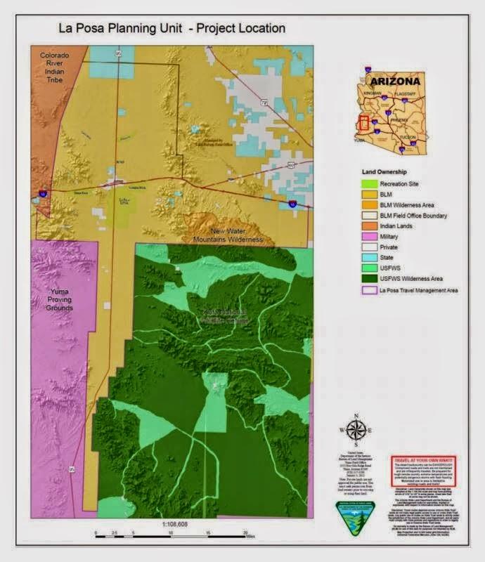 Desert messenger quartzsite az blm extends comment for Bureau land management