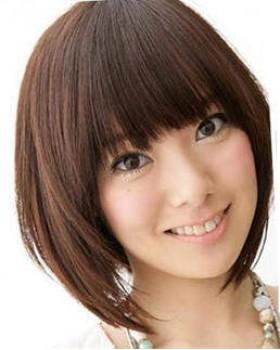 rambut yang cocok untuk wajah panjang model rambut bob dan berponi