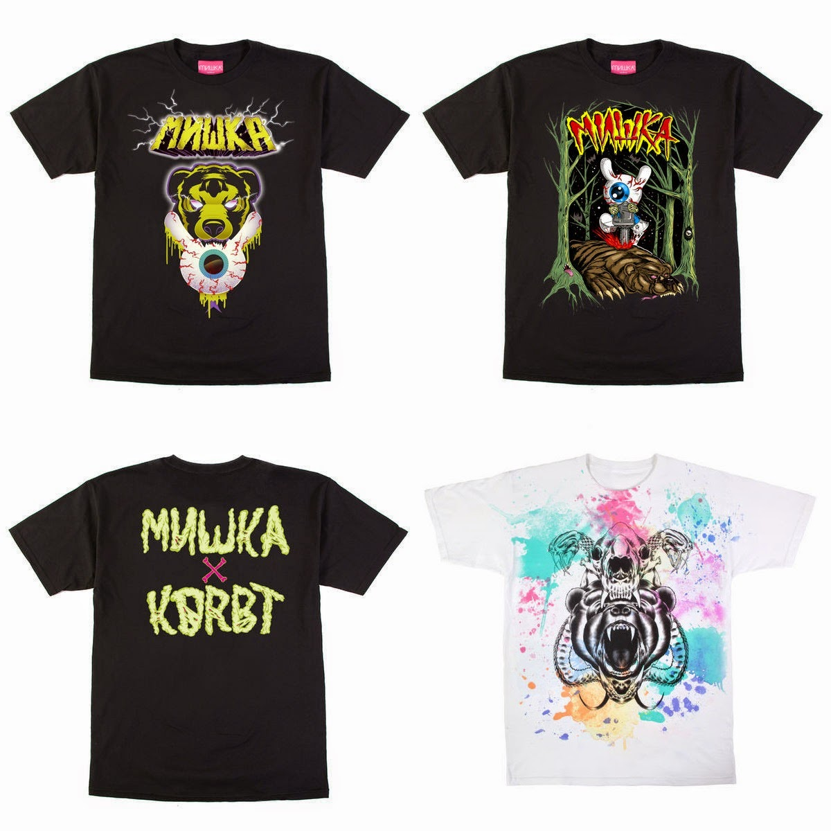 Kidrobot x Mishka Bad News Dunny T-Shirt Collection