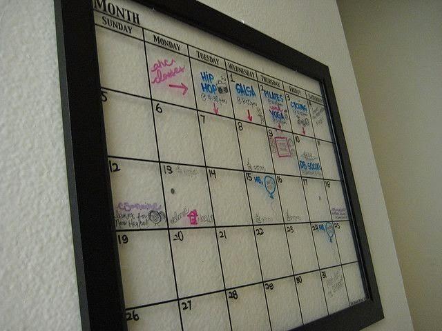 kalendarz w ramce 2015 diy