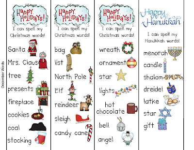 christmas words beginning with i