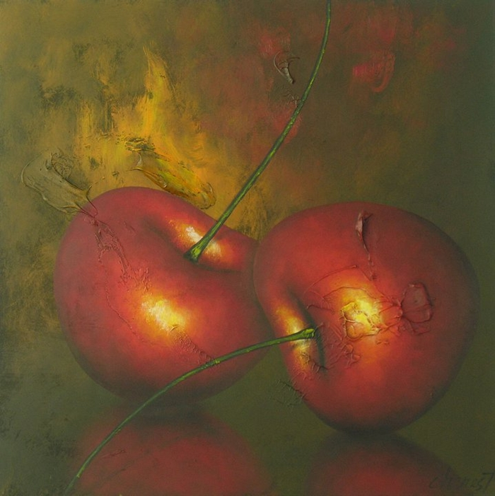 Gilles Charest 1947   Canadian Still Life painter