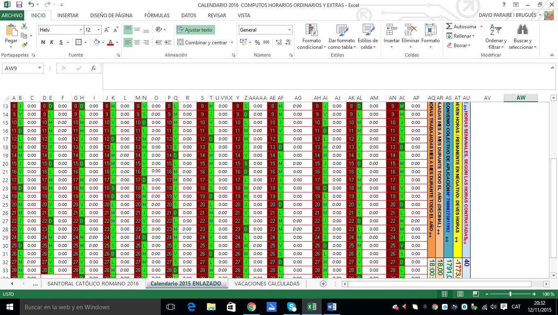 arbre anomenat Carrasclest!: Calendario Excel de 2016, y perpetuo para ...