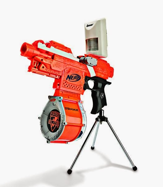 Buffdaddy Nerf Popular Science Shows Diy Sentry Gun In May 2014 Issue