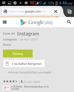 Cara Daftar Instagram dengan Smartphone Android