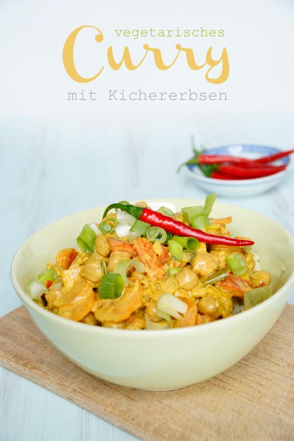 Rezept Curry mit Kichererbsen vegetarisch