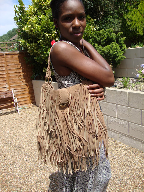 2366030cc0 As soon as I spotted this tassel bag (also from Primark) I had to have it!  I love how the tassels blow in the wind! Lol