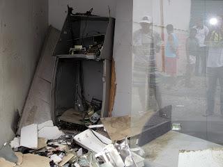 Banco estourado com dinamite e Caixa Eletrônico é levado por bandidos