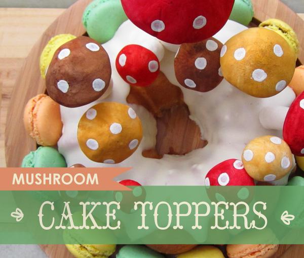 Mushroom Cake Toppers