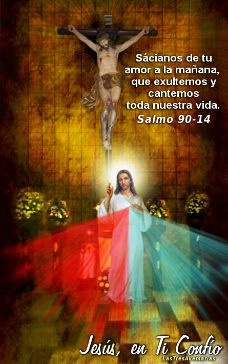 foto de la divina misericordia con salmo