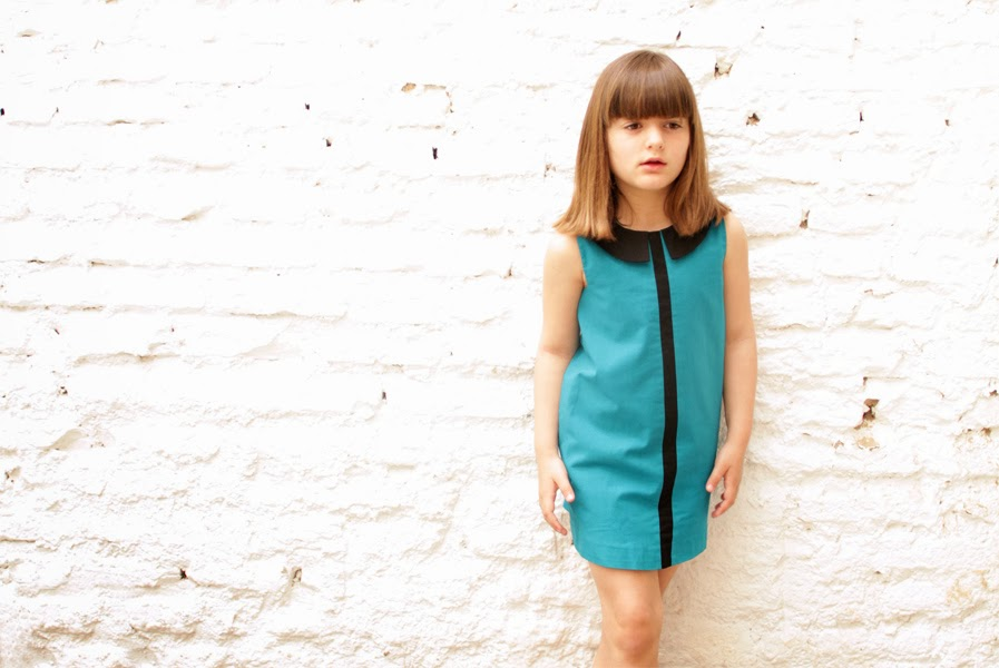 Tuxedo dress by Motoreta for spring 2014 kids fashion collection