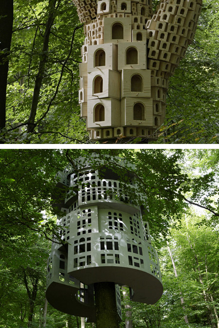 Top 10 amazing stylish unique birdhouses nests top 10 for Amazing big houses