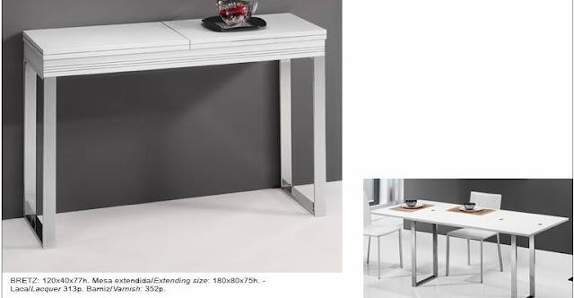 3 c nsolas que se transforman en mesa de comedor ideas - Consolas que se convierten en mesas de comedor ...