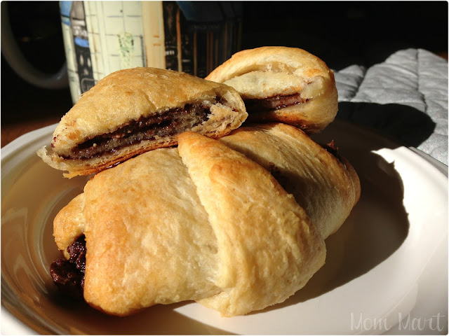 Chocolate Almond Butter Croissant Recipe with Picture Tutorial #Foodie #Breakfast #Yummy