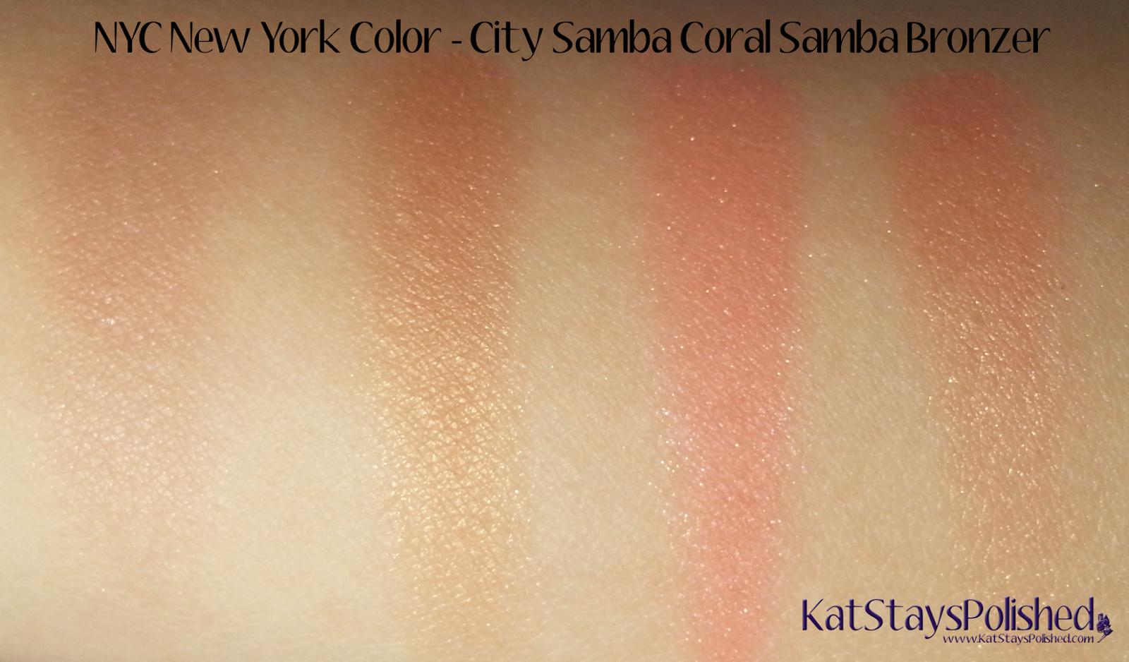 NYC New York Color - City Samba Sun 'n' Bronze - Coral Samba Bronzer Swatches | Kat Stays Polished