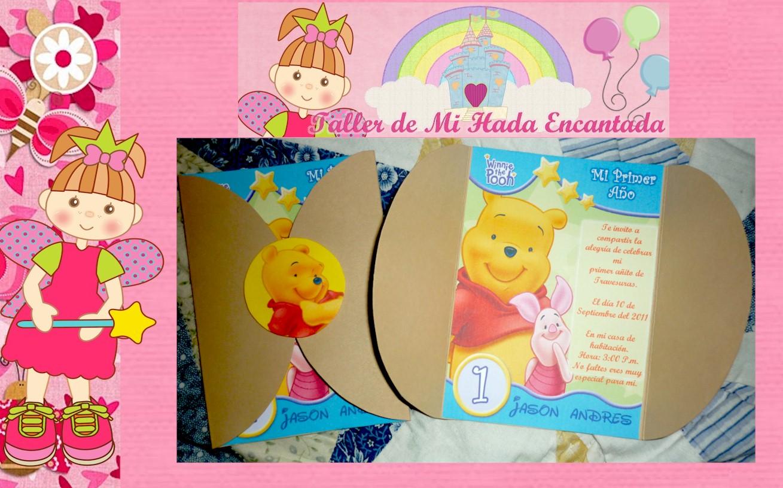 Tarjeta de invitación bebé pooh - Imagui