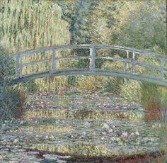 Claude Monet, Le bassin aux nymphéas, harmonie verte, 1899. Jardín en Giverny