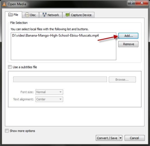 File Add Video Convert Video Ke Berbagai Format Menggunakan VLC Player