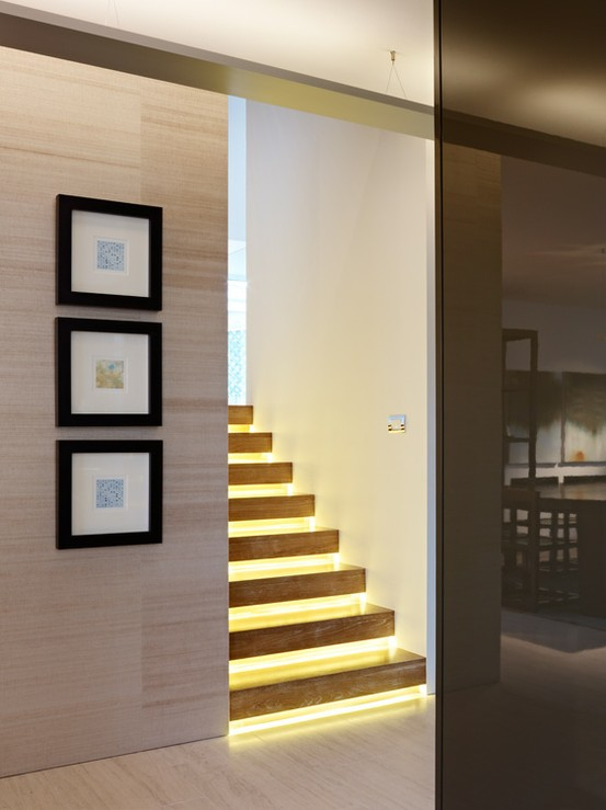 Modernos dise os de escaleras iluminadas ideas para decorar dise ar y mejorar tu casa - Iluminacion de escaleras ...