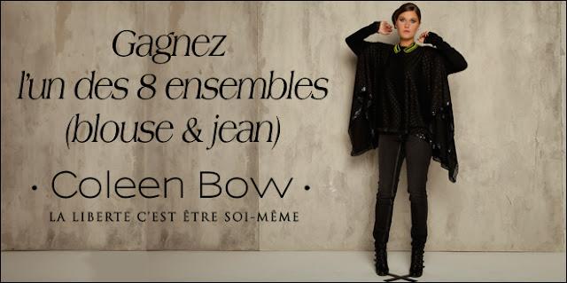 8 ensembles (blouse & jean) Colenn Bow à gagner
