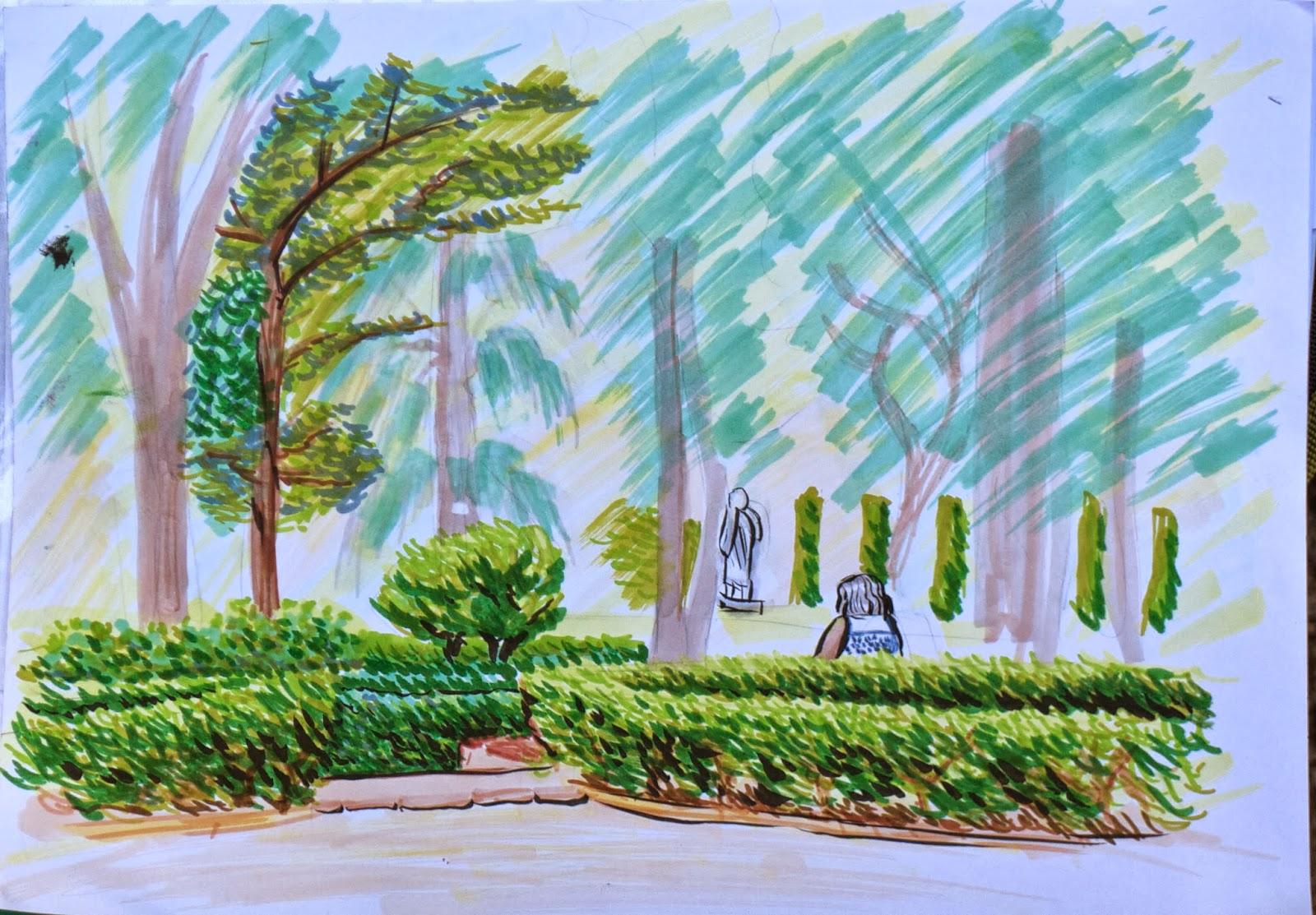 De vuelta con el cuaderno jardines de monforte for Jardines de monforte
