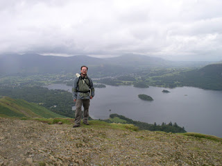 On the top of Cat Bells, my first Wainwright