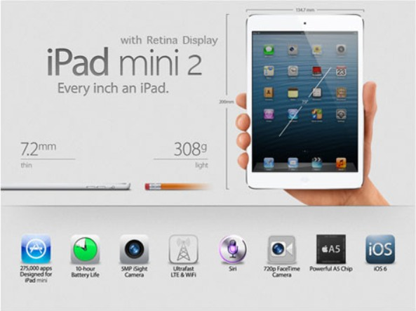 Apple iPad mini 2nd Generation Features, Price and Release Date