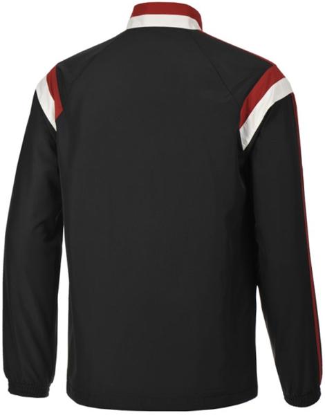 jaket Bola training ac milan 2014-2015 adidas presentation tracksuit black jacket