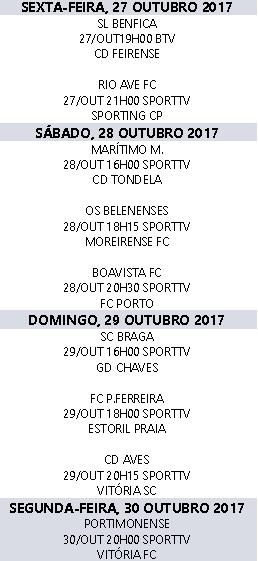 Liga Nós 2017-2018 10ºJornada