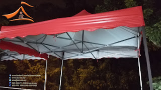 Halfmoon Canopy size: 22' x 22' and Foldable Tent size 8' x 8' requested by our client at Wangsa Maju, Setapak